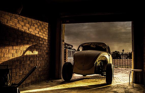 Garage utan garageport